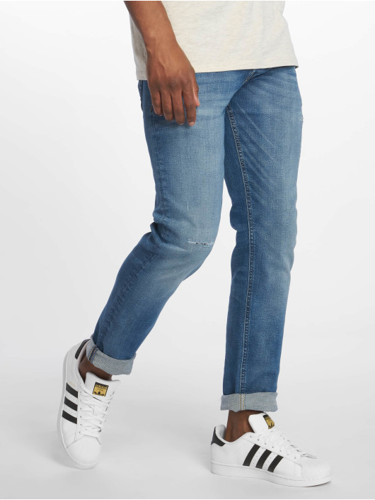Jack & Jones Straight Fit Jeans jjiTim jjOriginal blau
