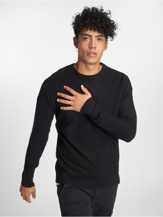 Jack & Jones Svetry jjeStructure Knit čern