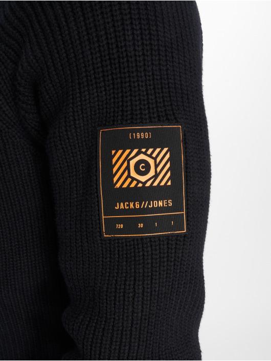Jack & Jones Svetry jcoMemphis Knit Shawl čern