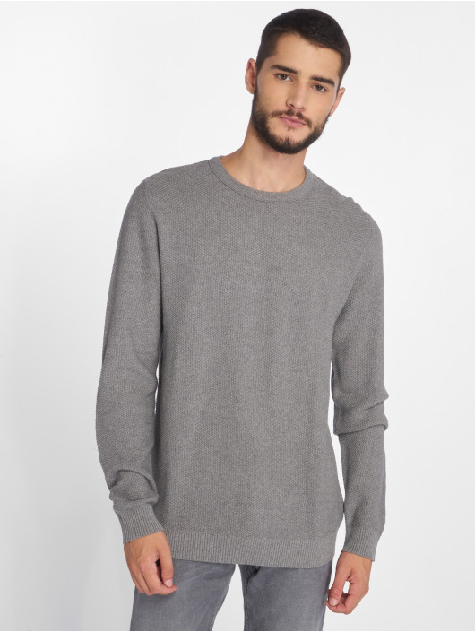 Jack & Jones Svetry jjeStructure Knit šedá