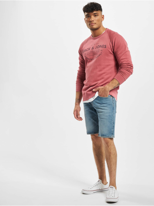 Jack & Jones Sweat & Pull jjeJeans Washed Noos rouge