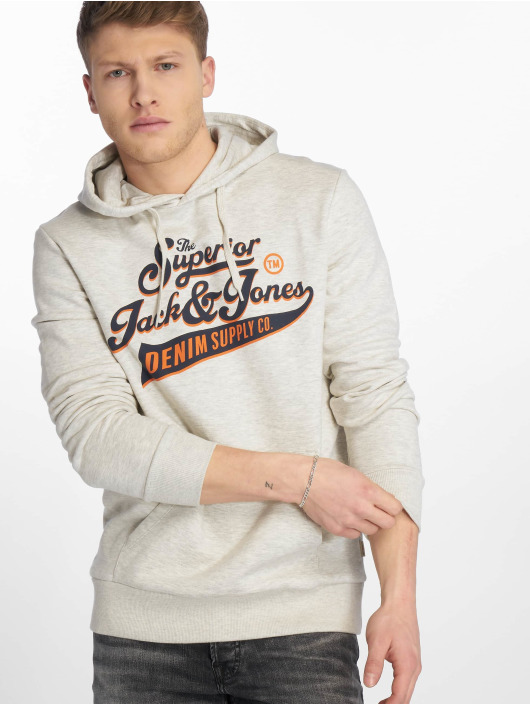 Jack & Jones Sweat capuche jjeLogo blanc