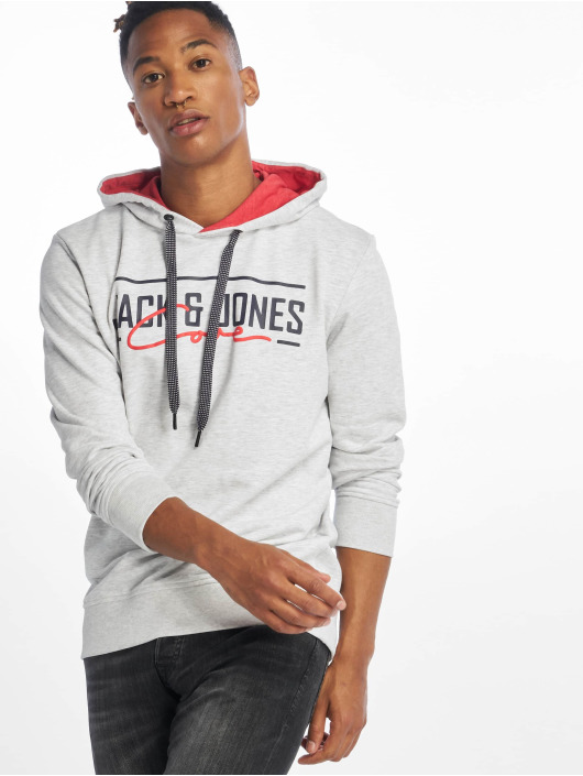 Jack & Jones Sweat capuche jcoAxel blanc