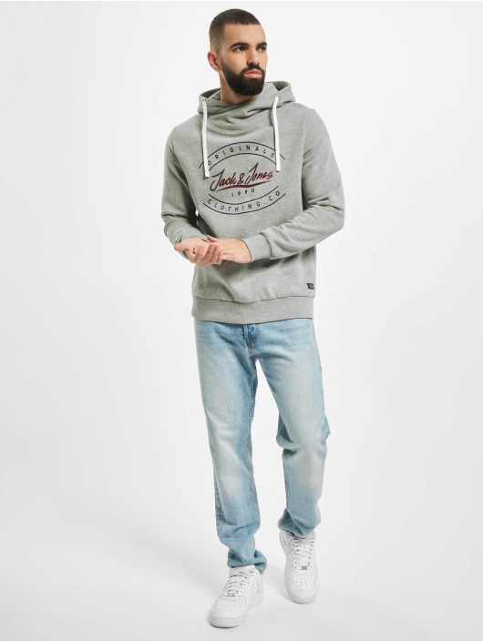 Jack & Jones Sweat capuche jorStationary gris