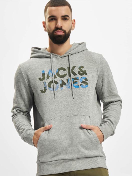 Jack & Jones Sweat capuche Jjsoldier gris