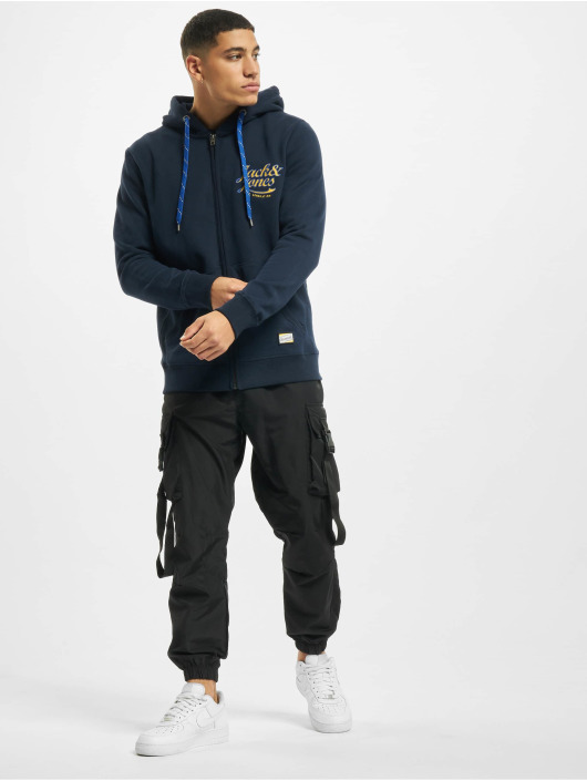 Jack & Jones Sweat capuche zippé jorLars bleu