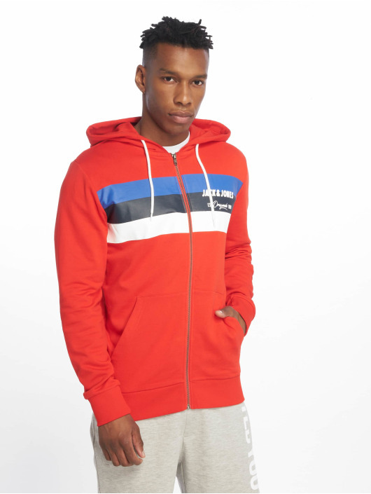 Jack & Jones Sweat capuche zippé jorShakedowns rouge