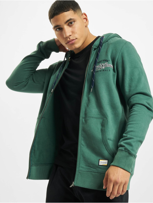 Jack & Jones Sweat capuche zippé jorLars vert