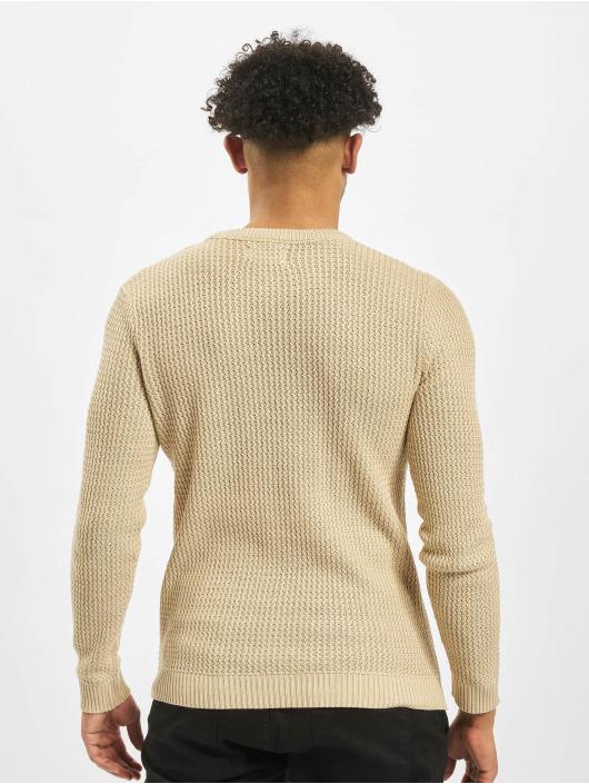 Jack & Jones Swetry jorFlow Knit bezowy