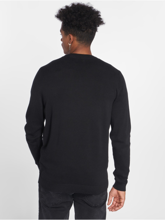 Jack & Jones Swetry jjeBasic Knit czarny