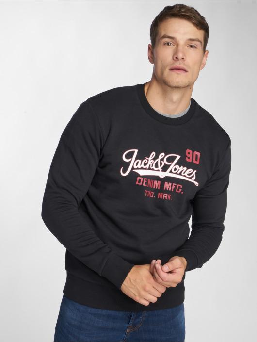 Jack & Jones Swetry jjeLogo Two Color czarny