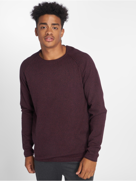 Jack & Jones Swetry jjeUnion Knit czerwony