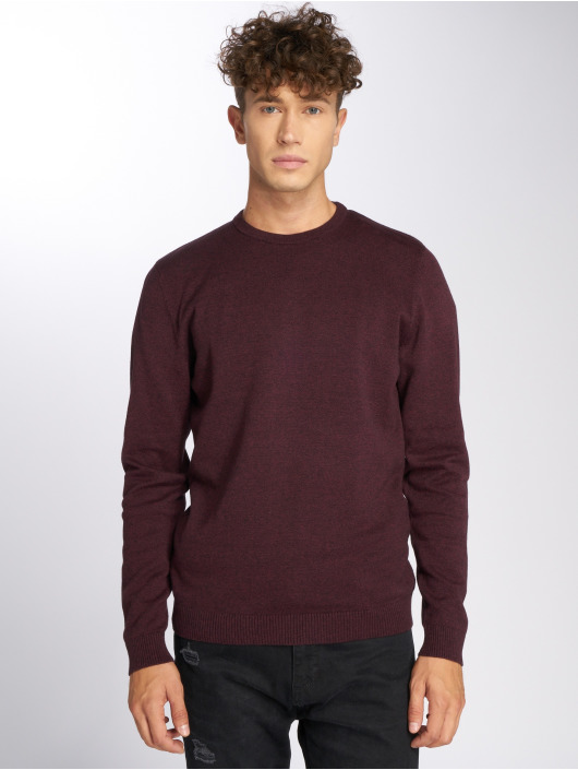 Jack & Jones Swetry jjeBasic czerwony