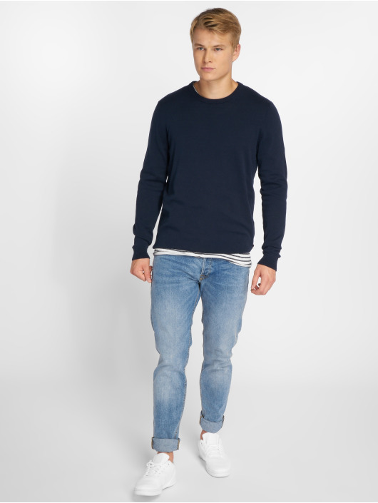 Jack & Jones Swetry jjeBasic niebieski