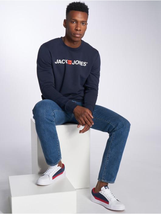 Jack & Jones Swetry jjeCorp Logo niebieski
