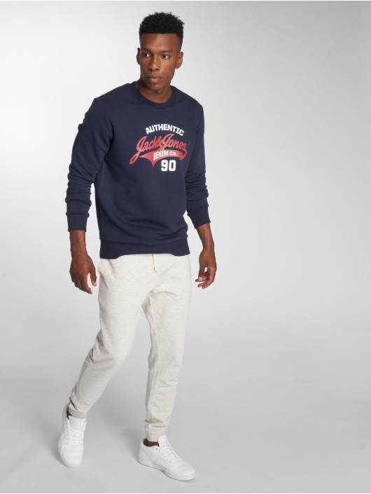 Jack & Jones Swetry jjeLogo niebieski