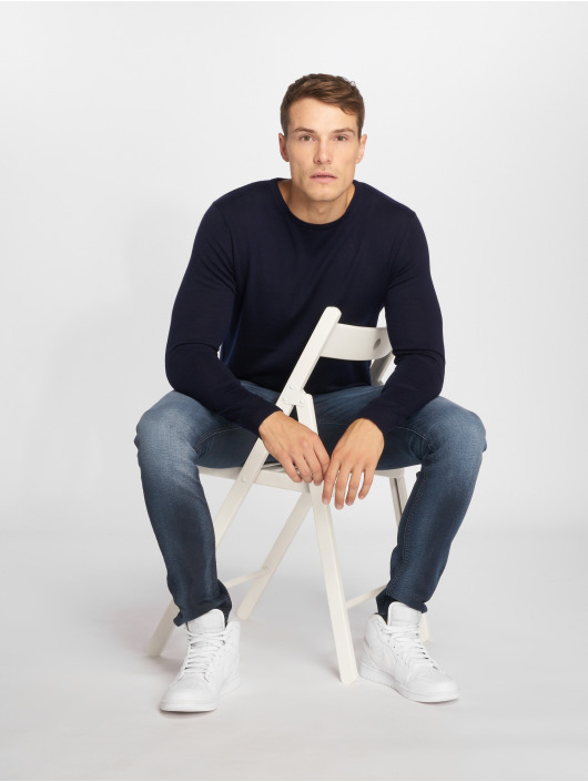Jack & Jones Swetry jprMark niebieski
