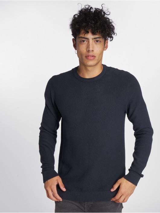 Jack & Jones Swetry jjeStructure Knit niebieski