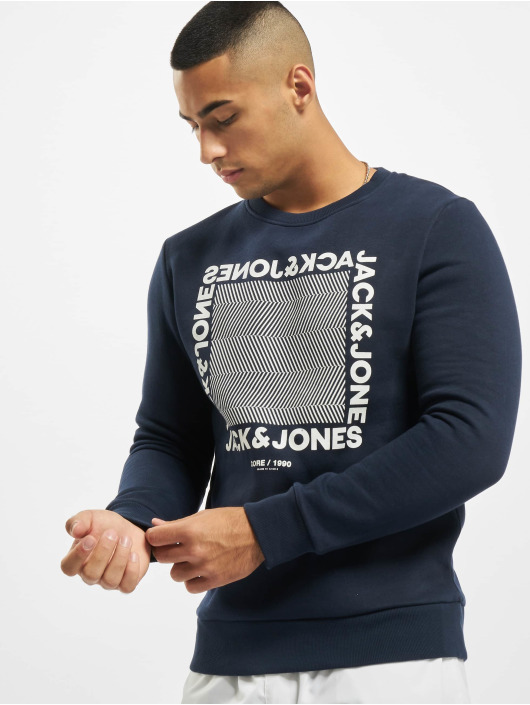 Jack & Jones Swetry jcoLarsen niebieski