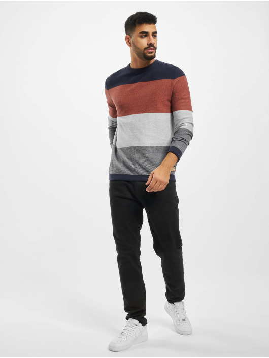Jack & Jones Swetry jorFlame niebieski