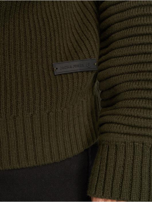 Jack & Jones Swetry jcoCalgary oliwkowy