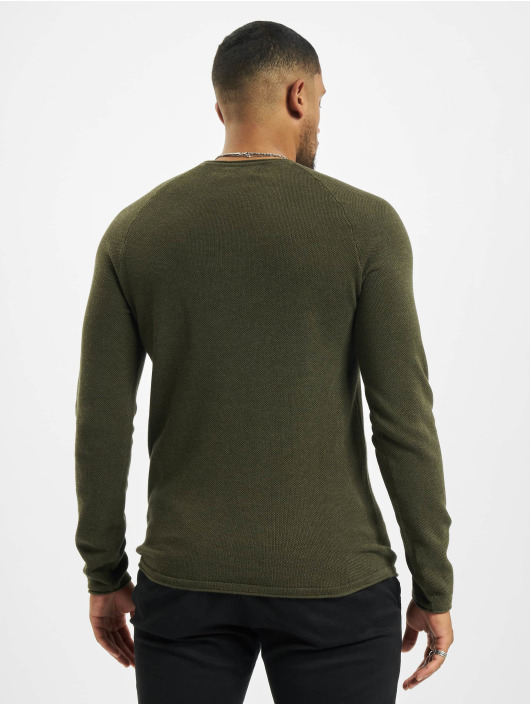 Jack & Jones Swetry jjeHill Knit Noos oliwkowy