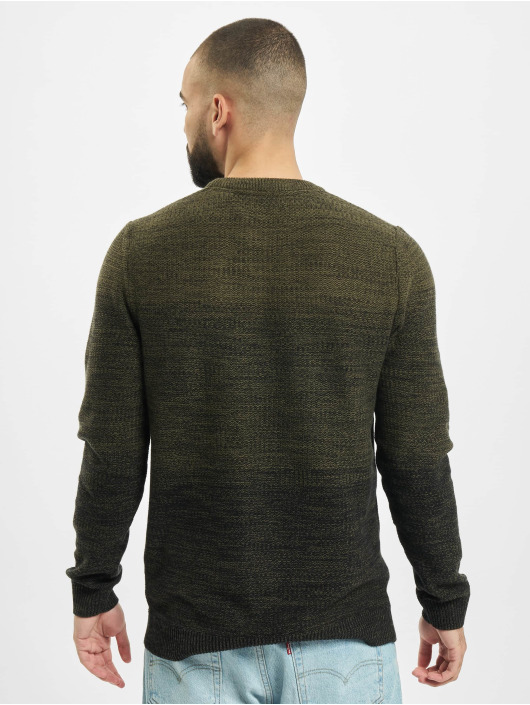 Jack & Jones Swetry jjeGraham Knit Noos oliwkowy