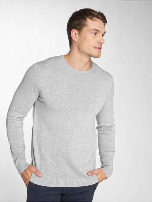 Jack & Jones Swetry jjeBasic szary