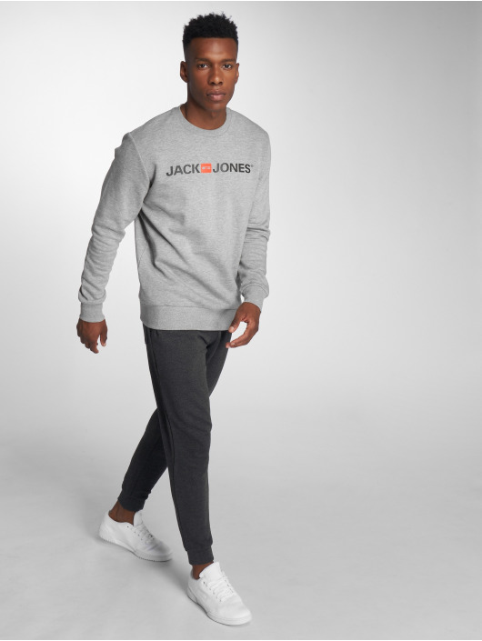 Jack & Jones Swetry jjeCorp Logo szary