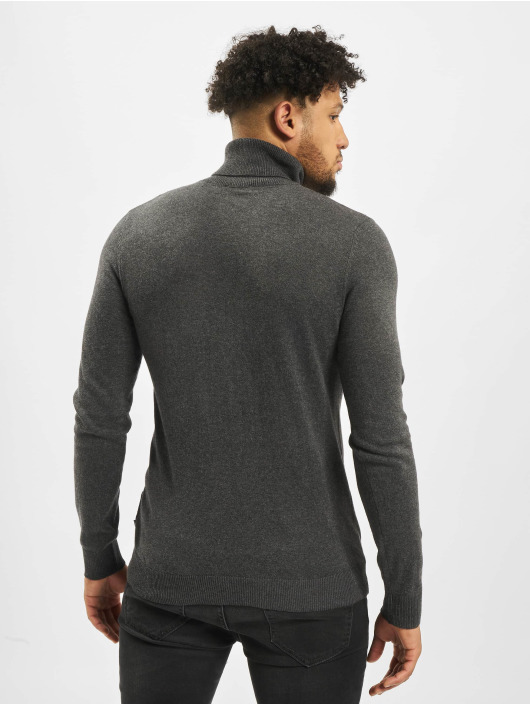 Jack & Jones Swetry jjeEmil Knit Roll Neck szary
