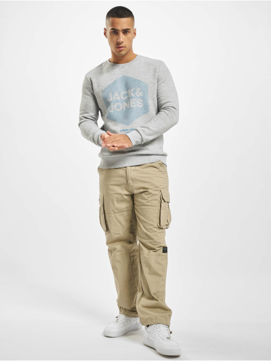 Jack & Jones Swetry jcoLarsen szary
