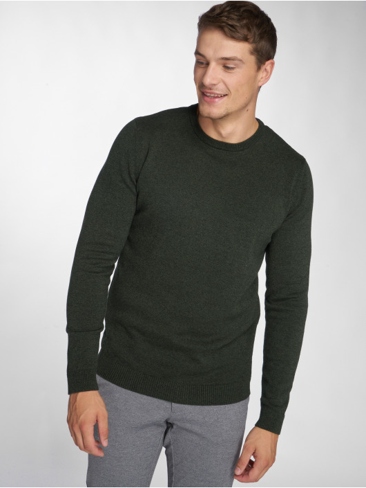 Jack & Jones Swetry jjeBasic zielony