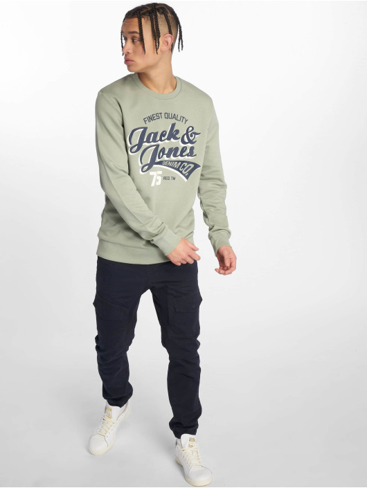 Jack & Jones Swetry jjeLogo zielony