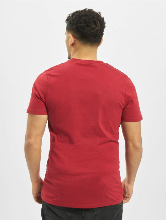 Jack & Jones T-paidat jjeDenim Logo O-Neck Noos punainen