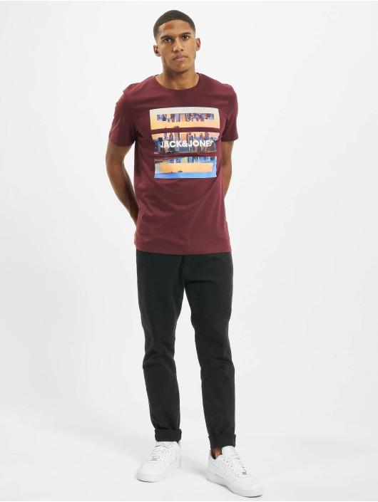 Jack & Jones T-paidat jjBarista punainen