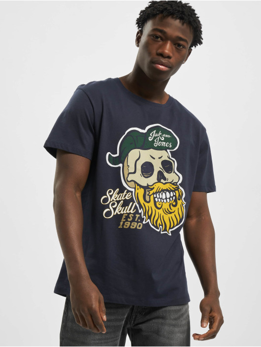 Jack & Jones T-paidat jorSkulling sininen