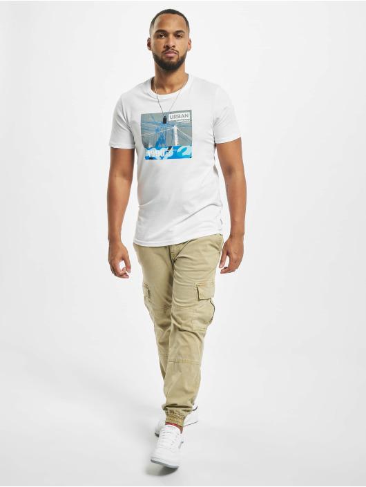 Jack & Jones T-paidat jcoSignal valkoinen