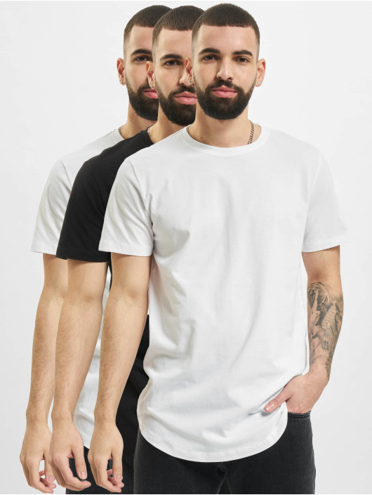 Jack & Jones T-paidat Jjenoa Crew Neck 3-Pack valkoinen