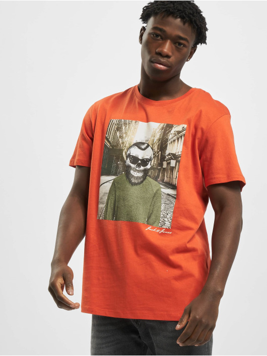 Jack & Jones T-shirt jorSkulling apelsin