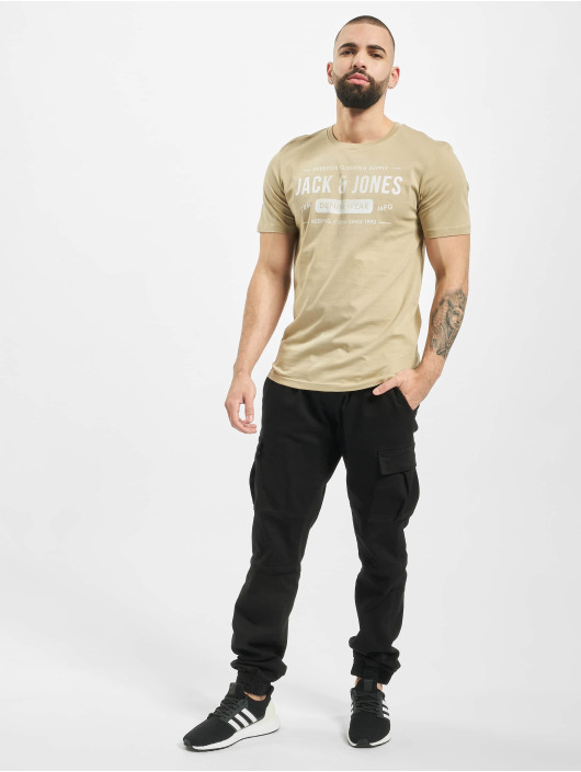 Jack & Jones T-Shirt jjeJeans beige
