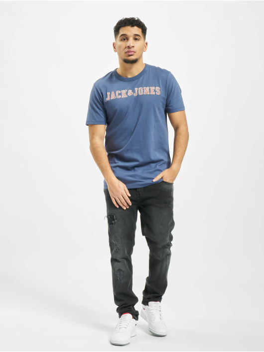 Jack & Jones T-shirt jprLlogo blå