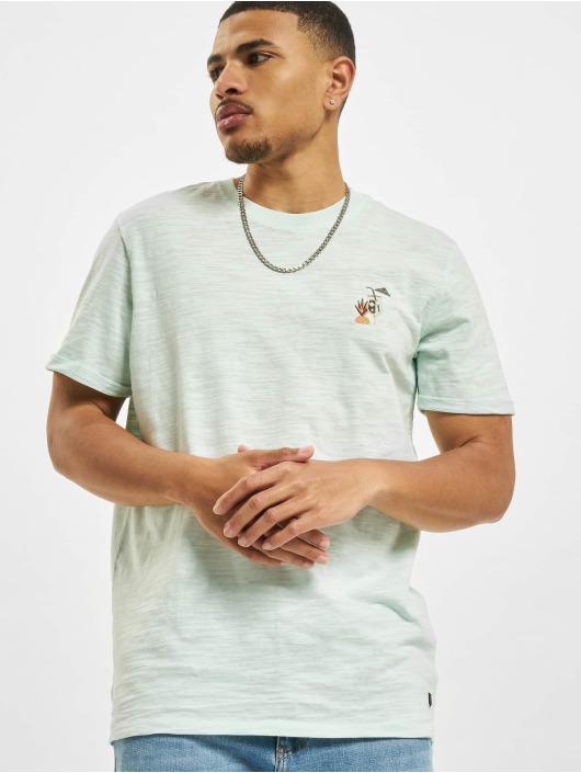 Jack & Jones T-shirt Jprblabeach Embroidery blå