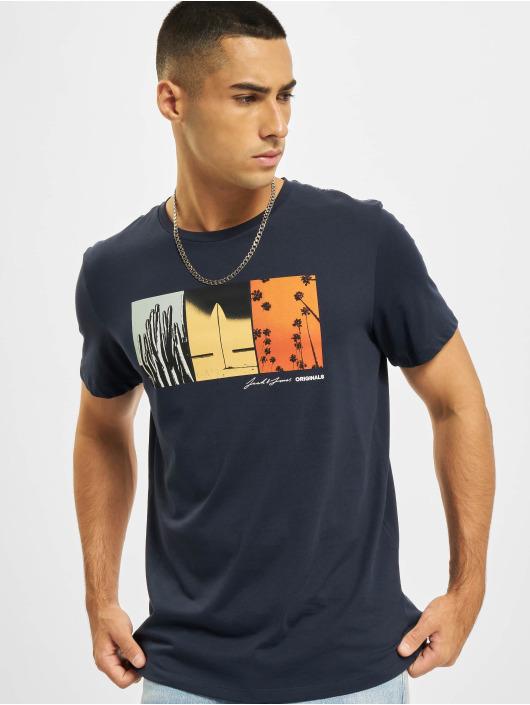 Jack & Jones T-shirt Jorocto Crew Neck blå