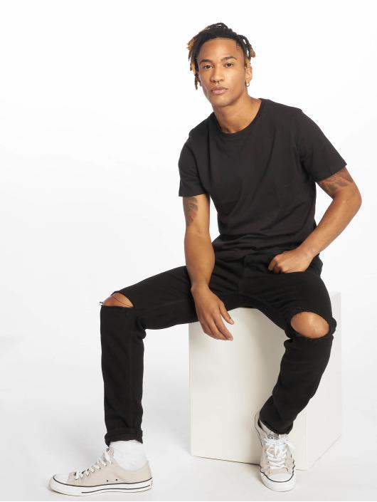 Jack & Jones T-Shirt jjePlain 2-Pack black