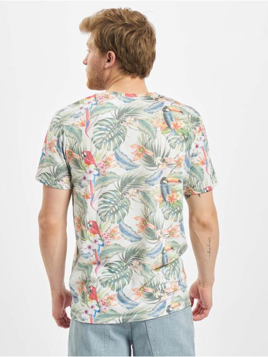 Jack & Jones T-Shirt jorTropicalbirds blanc
