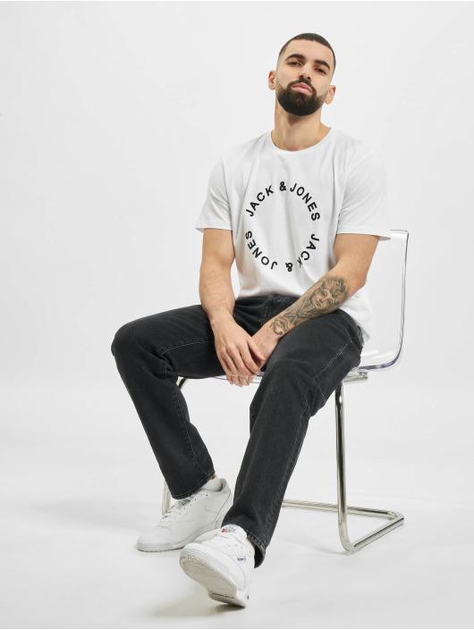Jack & Jones T-Shirt jjCircle Flock blanc