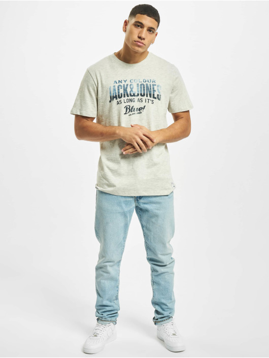 Jack & Jones T-Shirt jj30Jones Slub blanc