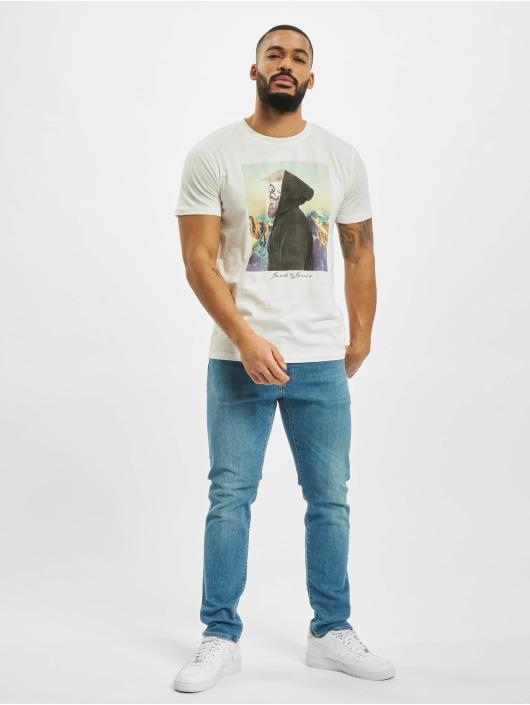 Jack & Jones T-Shirt jorSkulling blanc