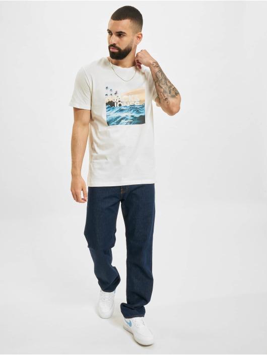 Jack & Jones T-Shirt JOR Azure blanc