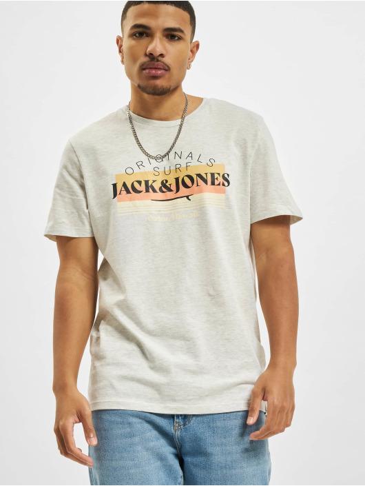 Jack & Jones T-Shirt Jorcabana Crew Neck blanc